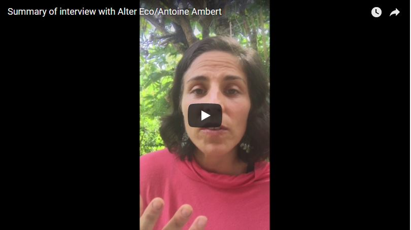 Summary of interview with Antoine Ambert at Alter Eco